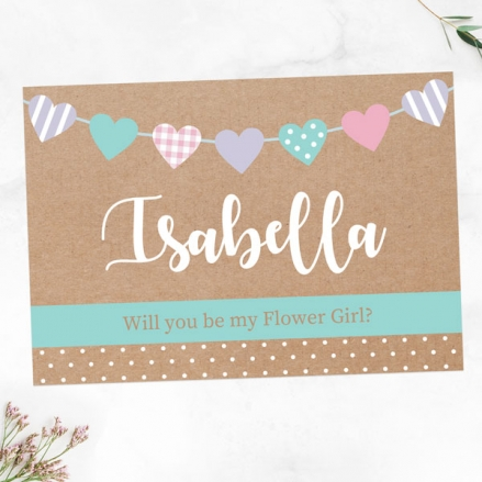 Will You Be My Flower Girl? - Heart Bunting