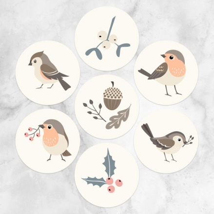 Winter-Robin-Christmas-Stickers-Pack-of-70