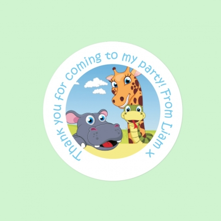 Zoo Animals - Sweet Bag Stickers - Pack of 35