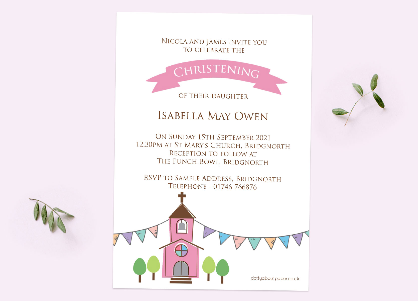 Girls Christening Invitations