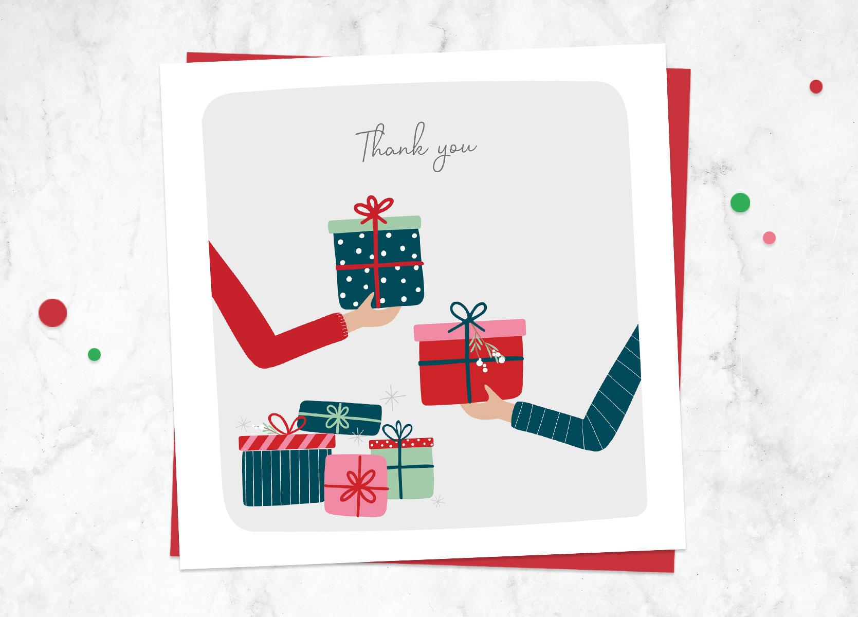 Single Christmas Thank You Cards