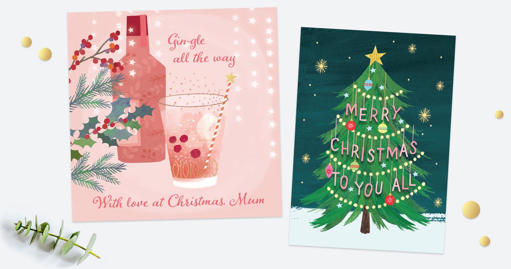 Single Christmas Cards