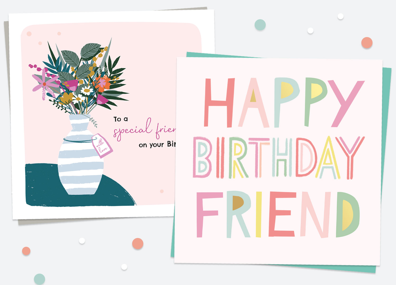 Birthday Cards For Her - Friend