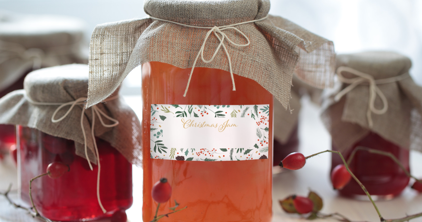 Christmas Jam Jar Labels