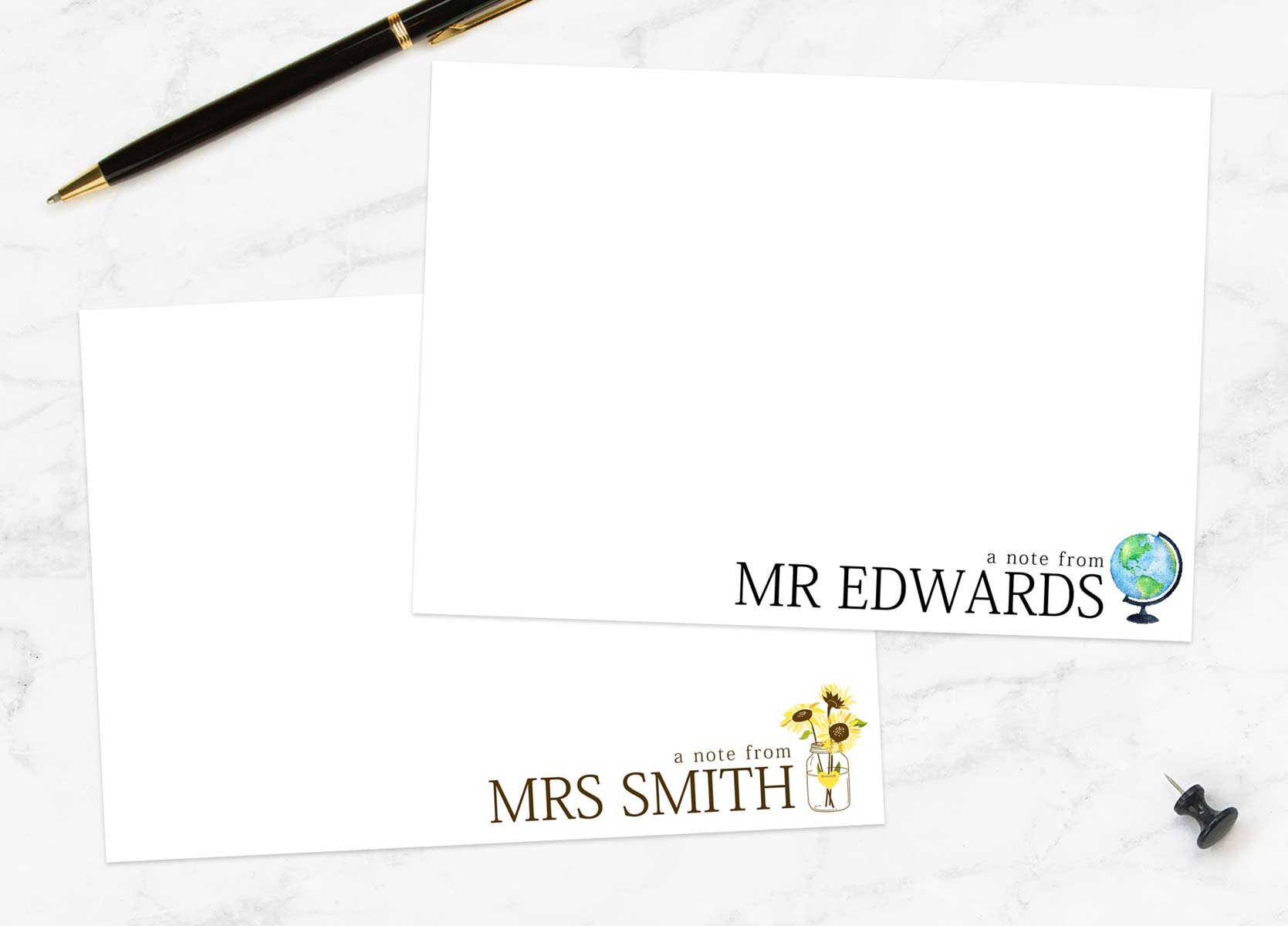 Personalised Writing Sets
