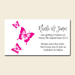 Save the Date Magnets - Think Pink!