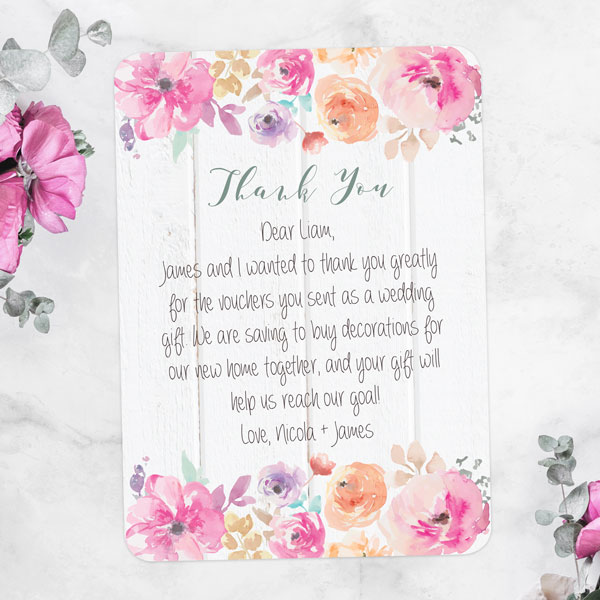 Wedding Gift Thank You Notes Wording: Wedding Thank You Cards Wording Help