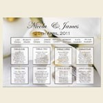 Wedding Table Plans from The Card Gallery