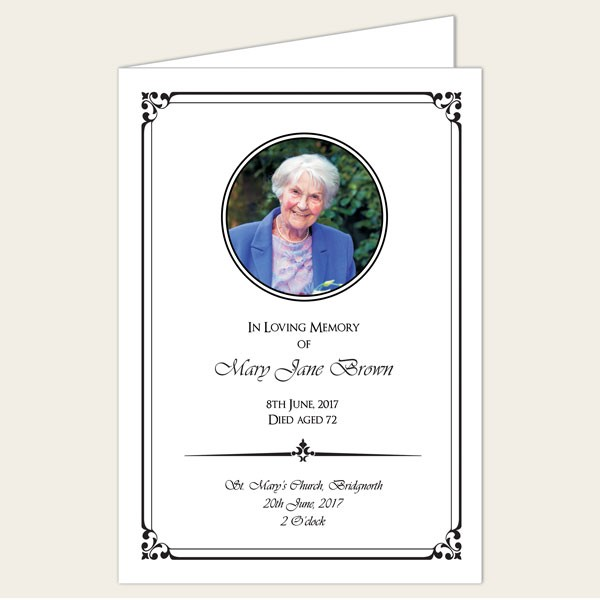 Introducing our range of funeral stationery