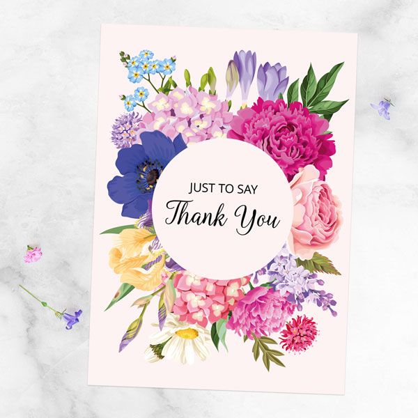 Long Lost Tradition of Writing Cards - Ready to Write Thank You Cards - Bright Summer Flowers