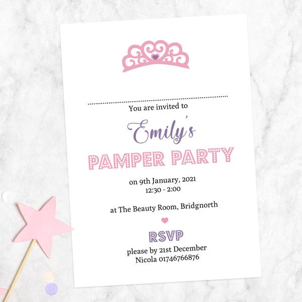 When should you send out invitations for a birthday party? - Kids Birthday Invitations - Princess Pamper Party