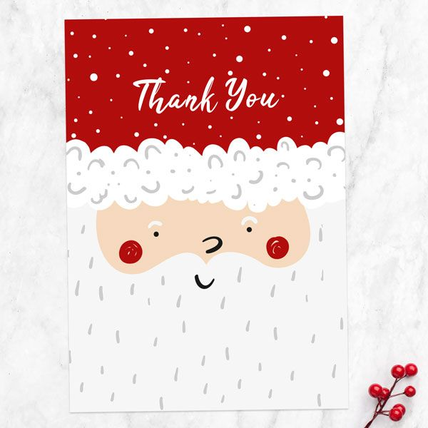 How Do You Write a Good Thank You Note? - Christmas Thank You Cards - Father Christmas