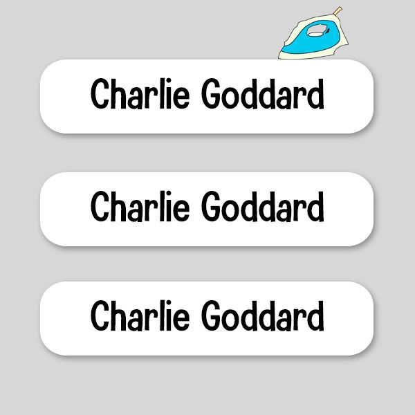 How Do You Use Iron-On Labels - Personalised Iron On (Clothes) Name Labels - White