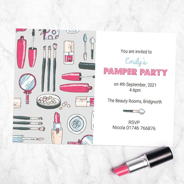 How to Choose a Beautiful Birthday Invitation Card? - Kids Birthday Invitations - Make Up Pamper Party