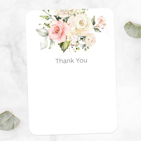 How Do You Decline a Wedding Invitation after Accepting It? - Pink Country Roses - Ready to Write Wedding Thank You Cards