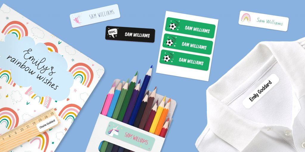 School Name Labels Clothes Stationery Etc
