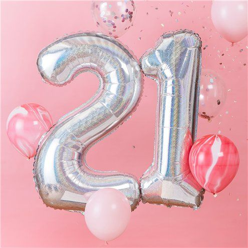 How to Make Your Birthday Special without a Party - Age 21 Iridescent Balloon Kit
