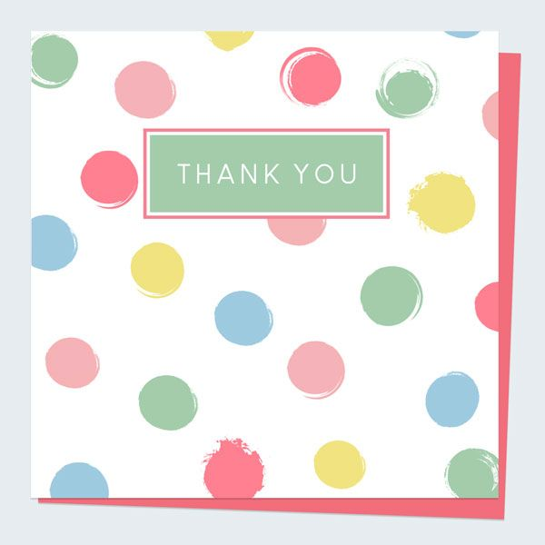 What to Write in a Thank You Card - Thank You Card - Join the Dots Pastel