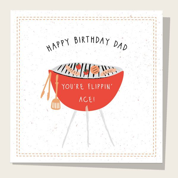 What to Write in a Birthday Card for Your Dad - Dad Birthday Card - Flippin' Ace Barbecue