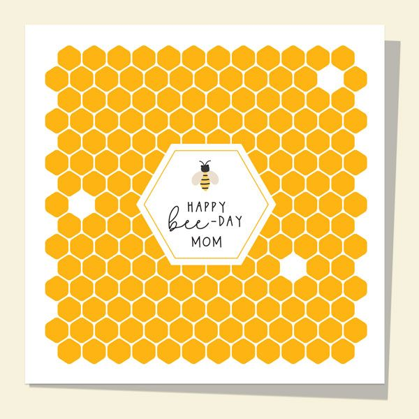 What to Write in a Birthday Card for Your Mum - Mom Birthday Card - Honey Bee - Happy Bee-Day