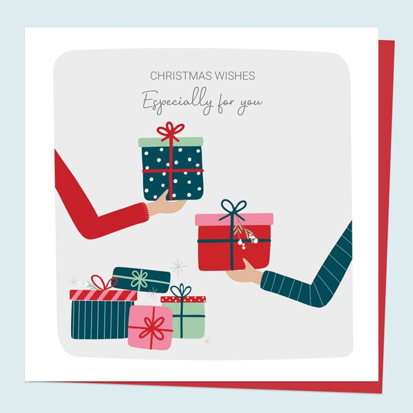 New 'Treasured Memories' Christmas Card Range! - General Christmas Card - Treasured Memories Exchanging Gifts - Especially For You